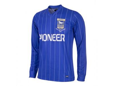 Ipswich Town 1981 - 82 retro trøje Lange Ærmer