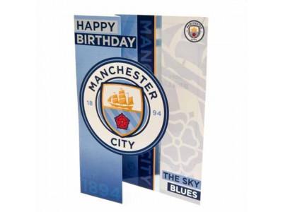 Manchester City fødselsdagskort - Birthday Card