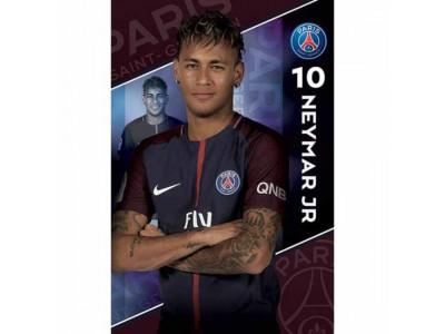 Paris Saint Germain plakat - PSG Poster Neymar 10
