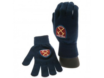 West Ham vanter - Knitted Gloves - voksen