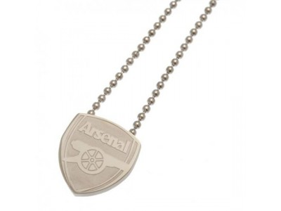 Arsenal kæde med emblem - Stainless Steel Pendant & Chain