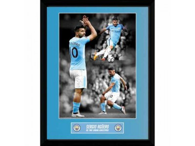 Manchester City billede - Picture Aguero Goalscorer 16 x 12