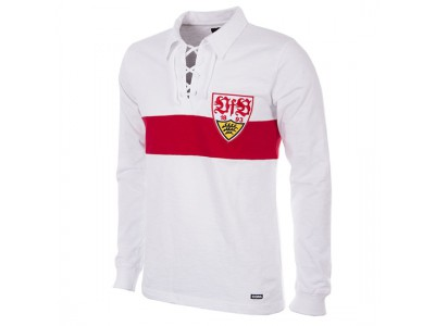 VFB Stuttgart trøje L/Æ - 1958 - 59 Long Sleeve Retro Football Shirt