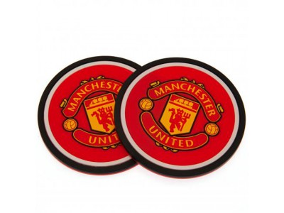 Manchester United bordskåner - 2 Pack Coaster Set