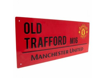 Manchester United gadeskilt - MUFC Street Sign Red