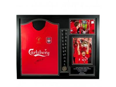 Liverpool - Gerrard Signed Shirt Istanbul (Framed)