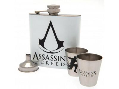 Assassins Creed lommelærke - Hip Flask Set