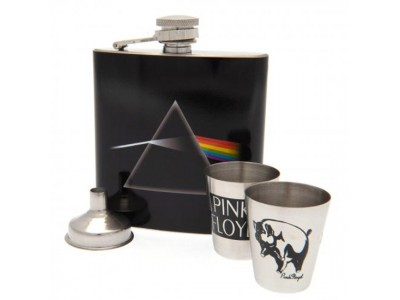 Pink Floyd lommelærke - Hip Flask Set