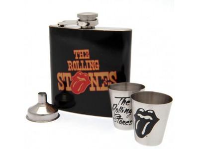 The Rolling Stones lommelærke - Hip Flask Set