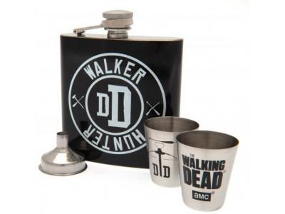 The Walking Dead lommelærke - Hip Flask Set