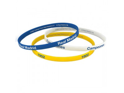 Real Madrid armbånd - 3 Pack Silicone Wristbands
