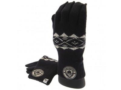 Manchester City vanter - Knitted Gloves Adult Fairisle
