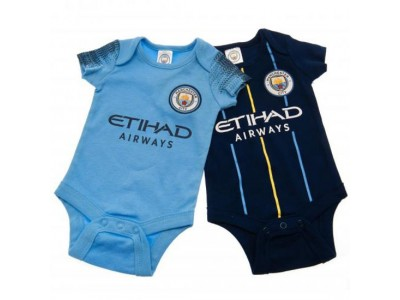 Manchester City - 2 Pack Bodysuit 0/3 Months NV