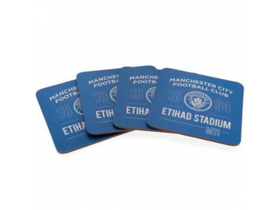 Manchester City bordskåner - 4 Pack Coaster Set