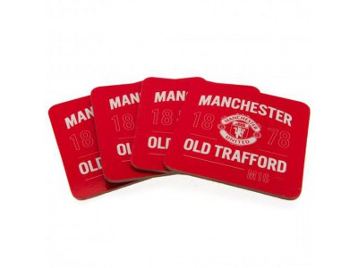 Manchester United bordskåner - 4 Pack Coaster Set