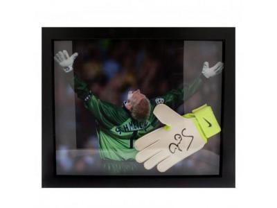 Manchester United handke - Schmeichel Signed Glove (Framed)