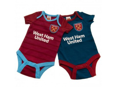 West Ham baby dragt - 2 Pack Bodysuit 3/6 Months BL