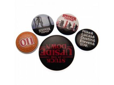 Stranger Things badge sæt - Button Badge Set