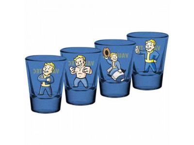 Fallout shot glas - 4 Pack Premium Shot Glass Set