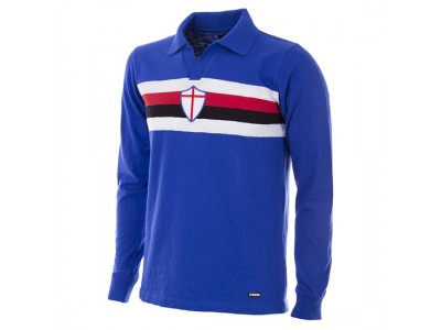 Sampdoria trøje - 1956 - 57 Short Sleeve Retro Football Shirt