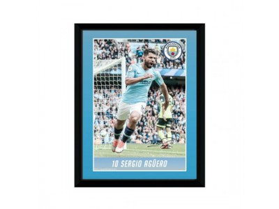Manchester City billede - Picture Aguero 8 x 6 inches