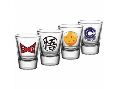 Dragon Ball Z shot glas - 4 Pack Shot Glass Set