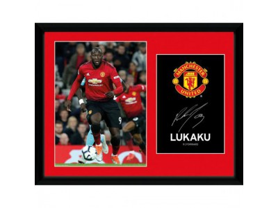 Manchester United billede - Picture Lukaku 16 x 12 inches