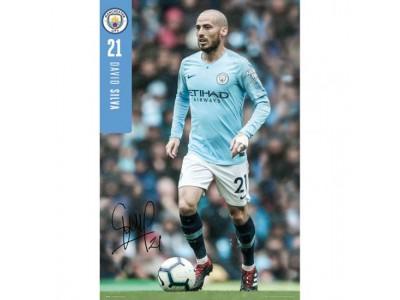 Manchester City plakat - Poster Silva 27