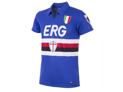 Sampdoria trøje - 1991 - 92 Short Sleeve Retro Football Shirt