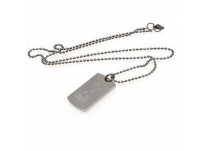 Tottenham Hotspur hunde skilt og kæde - Engraved Crest Dog Tag & Chain
