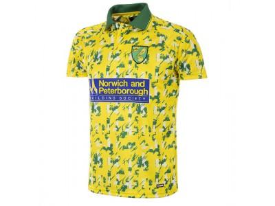 Norwich FC 1992 - 94 retro fodbold trøje