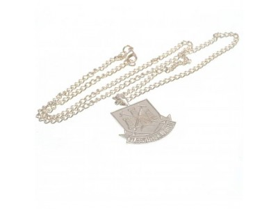 West Ham United kæde - WHFC Silver Plated Pendant & Chain XL CT