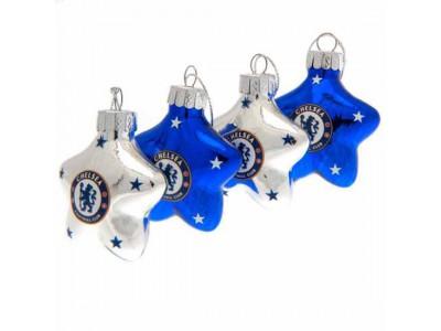 Chelsea jule stjerner - CFC 4 Pack Star Baubles