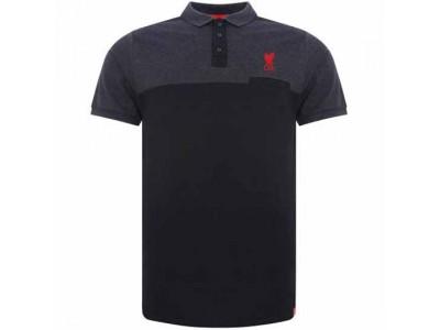 Liverpool polo trøje - LFC Block Polo Shirt Mens Navy - L