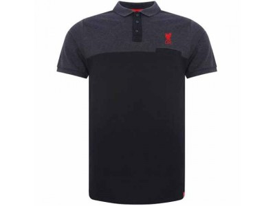 Liverpool polo trøje - LFC Block Polo Shirt Mens Navy - XL