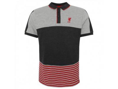 Liverpool polo trøje - LFC Block Polo Shirt Mens Grey - L