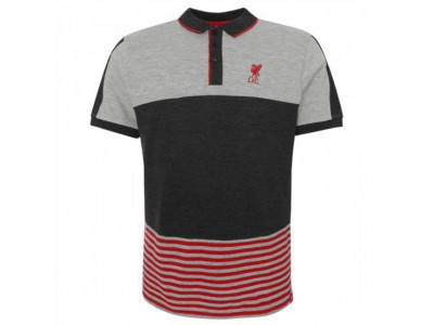 Liverpool polo trøje - LFC Block Polo Shirt Mens Grey - M