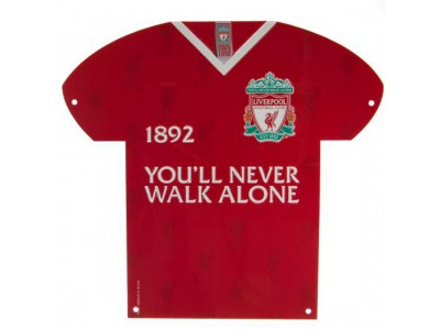 Liverpool skilt - LFC Metal Shirt Sign CR