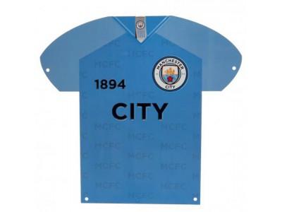 Manchester City skilt - City Metal Shirt Sign