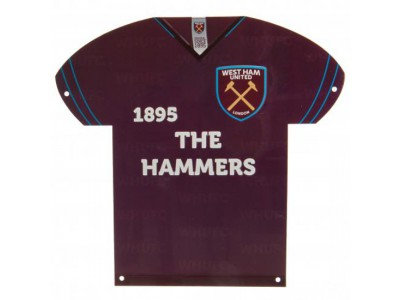 West Ham skilt - WHUFC Metal Shirt Sign