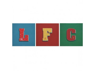 Liverpool brikker - LFC 3 Pack Canvas