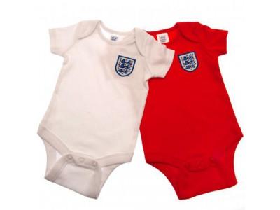 England FA baby sæt - 2 Pack Bodysuit 3/6 Months