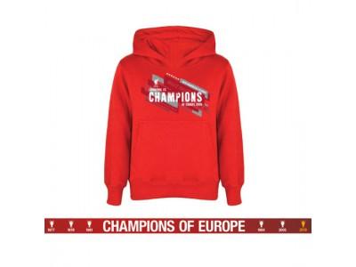 Liverpool hættetrøje - LFC Champions Of Europe Hoodie Mens M