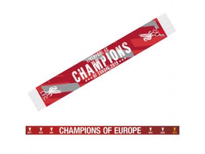 Liverpool halstørklæde - LFC Champions Of Europe Scarf  RG