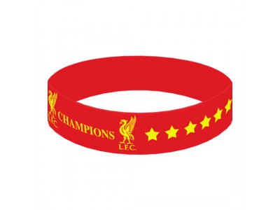 Liverpool armbånd - LFC Champions Of Europe Silicone Wristband