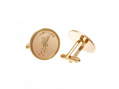 Liverpool manchetknapper - LFC Champions Of Europe Gold Plated Cufflinks