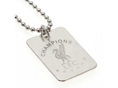 Liverpool hundesnor - LFC Champions Of Europe Silver Plated Dog Tag & Chain