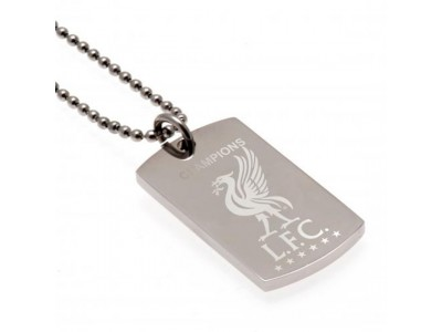 Liverpool hundesnor - LFC Champions Of Europe Engraved Dog Tag & Chain
