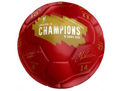 Liverpool fodbold - LFC Champions Of Europe Football Signature
