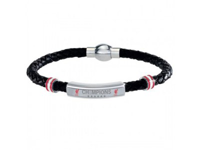 Liverpool læder armbånd - Champions Of Europe Leather Bracelet